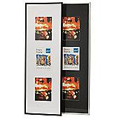 "Kenro Frisco Triple Aperture 6x4"" Black Photo Frame (Plastic) (FR4626B)"