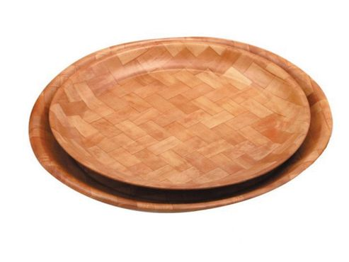 Zodiac Yt200072 Woven Wood Tray Round 12In