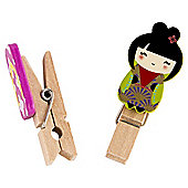 Gogo Wooden Pegs With Character