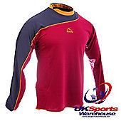 Bukta Odyssey Long Sleeve Football Shirts - Claret / Navy / Gold Youth S