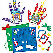 Foam Christmas Handprint Decoration Kits (4 Pcs)