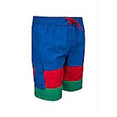Boys Stripe Boardshorts - Blue