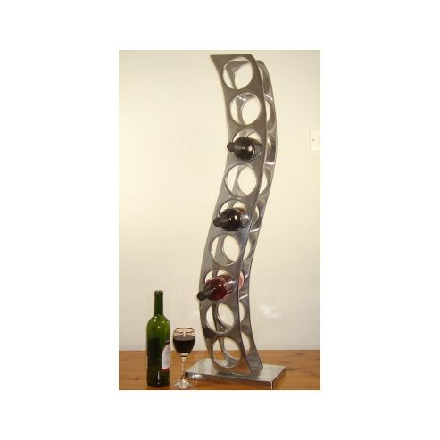 Cranville Wine racks 9 Bottle Cast and Polished Solid Aluminium Girder Wine rack