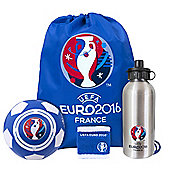 Euro 2016 Players Gift set (mini ball, Bottle, wristband)