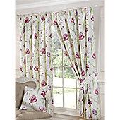 Mia Pencil Pleat Curtains 229 x 137cm - Red