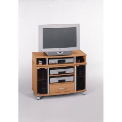 Maja-Möbel 44cm TV/Video Trolley in Beech / Aluminium Style
