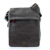 TRP0242 Troop London Classic Canvas Across Body Bag Black