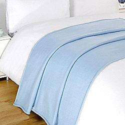 Dreamscene Soft Fleece Throw Blanket 120 x 150 cm - Light Blue