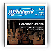 D Addario EJ16 Phosphor Light Acoustic Guitar Strings