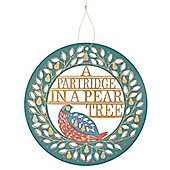 Pear Tree Christmas Sign - Christmas Decoration