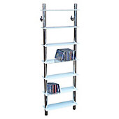 Techstyle Wall Mounted Glass and Chrome CD Media / Bathroom Storage Shelves - White