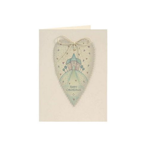 East of India Christening Heart Card
