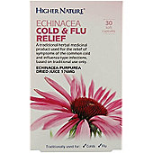 Higher Nature Echinacea Cold & Flu relief 30 Tablets