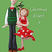 Holy Mackerel Happy Christmas, Christmas Kisses Greetings Card