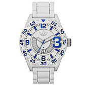 adidas Originals Newburgh 3D Chronograph Unisex Sports Watch White / Blue