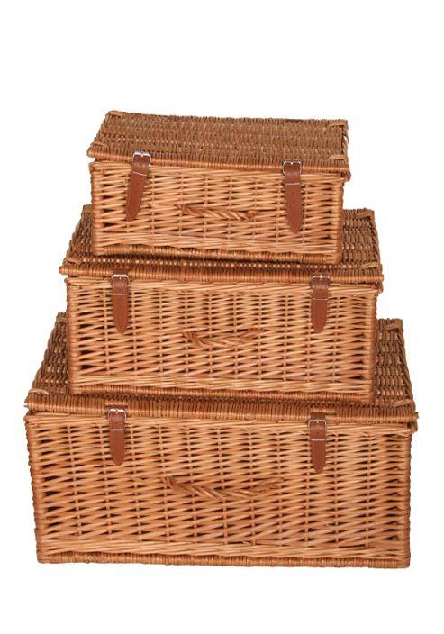 Wicker Valley Willow Rectangular Hamper (Set of 3)