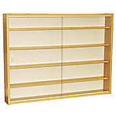 Reveal - 4 Shelf Glass Wall Display Cabinet - Oak
