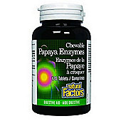 Natural Factors Chewable Papaya Enzymes with Amylase and Bromelain 120 Chew Tabs