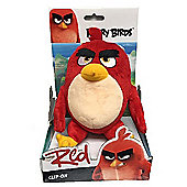 Angry Birds Movie Large Clip On Soft Toy - Red