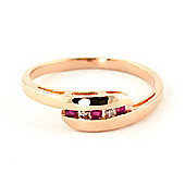 QP Jewellers Ruby & SI-1 Diamond Channel Set Embrace Eternity Ring in 14K Rose Gold