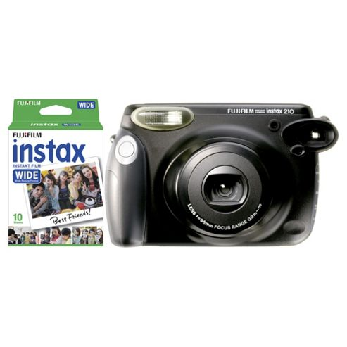 buy fuji instax wide 210 instant camera with 10 shots from