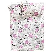 Tesco Birdcage Print Duvet Set Pink, Single