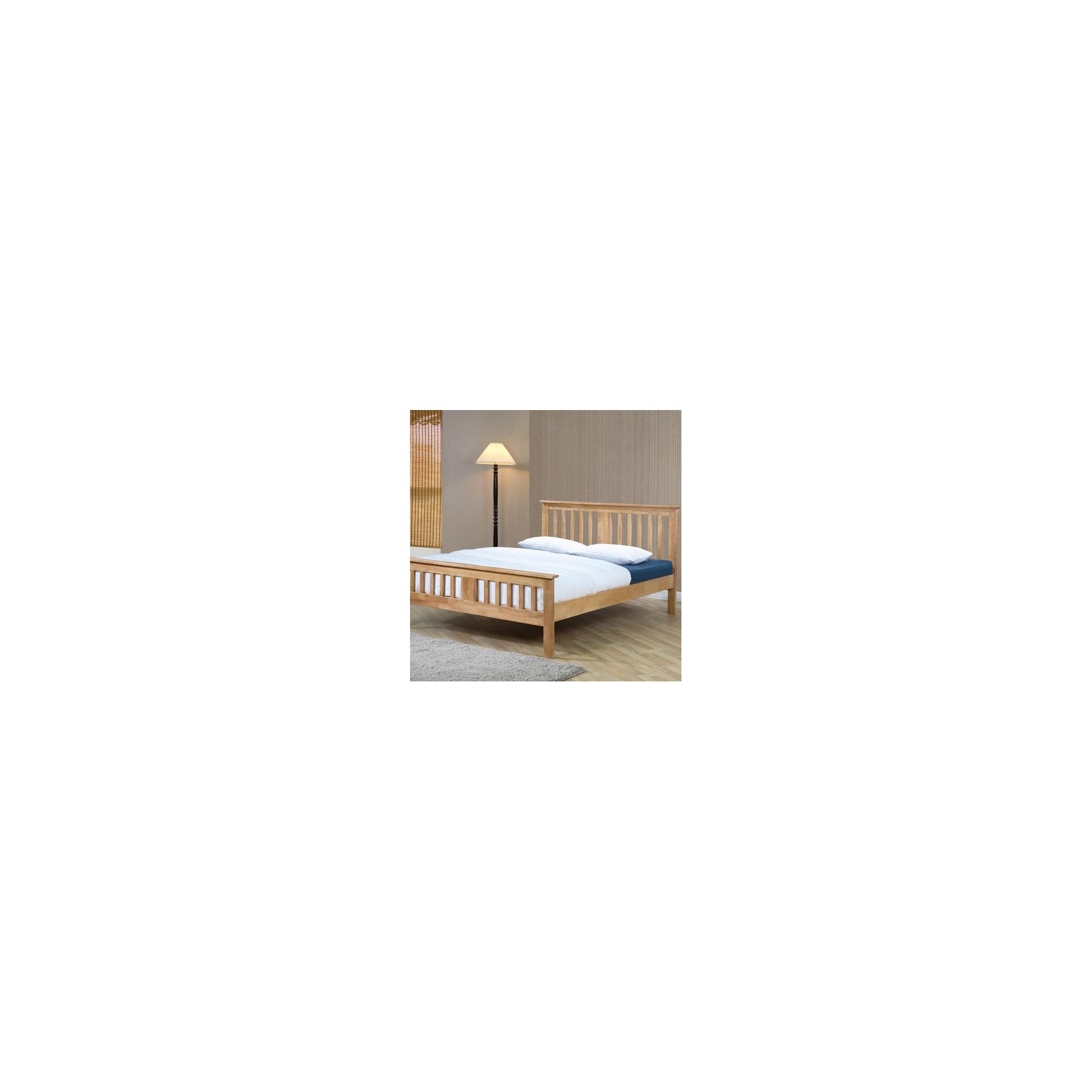 Sleepy Valley Brent Bed - Small Double - Oak - 2 Underbed Drawers/Hardwood at Tesco Direct