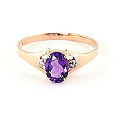 QP Jewellers Diamond & Amethyst Oval Desire Ring in 14K Rose Gold
