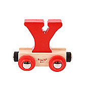 Bigjigs Rail BR125 Name Letter Y (Colours Vary)
