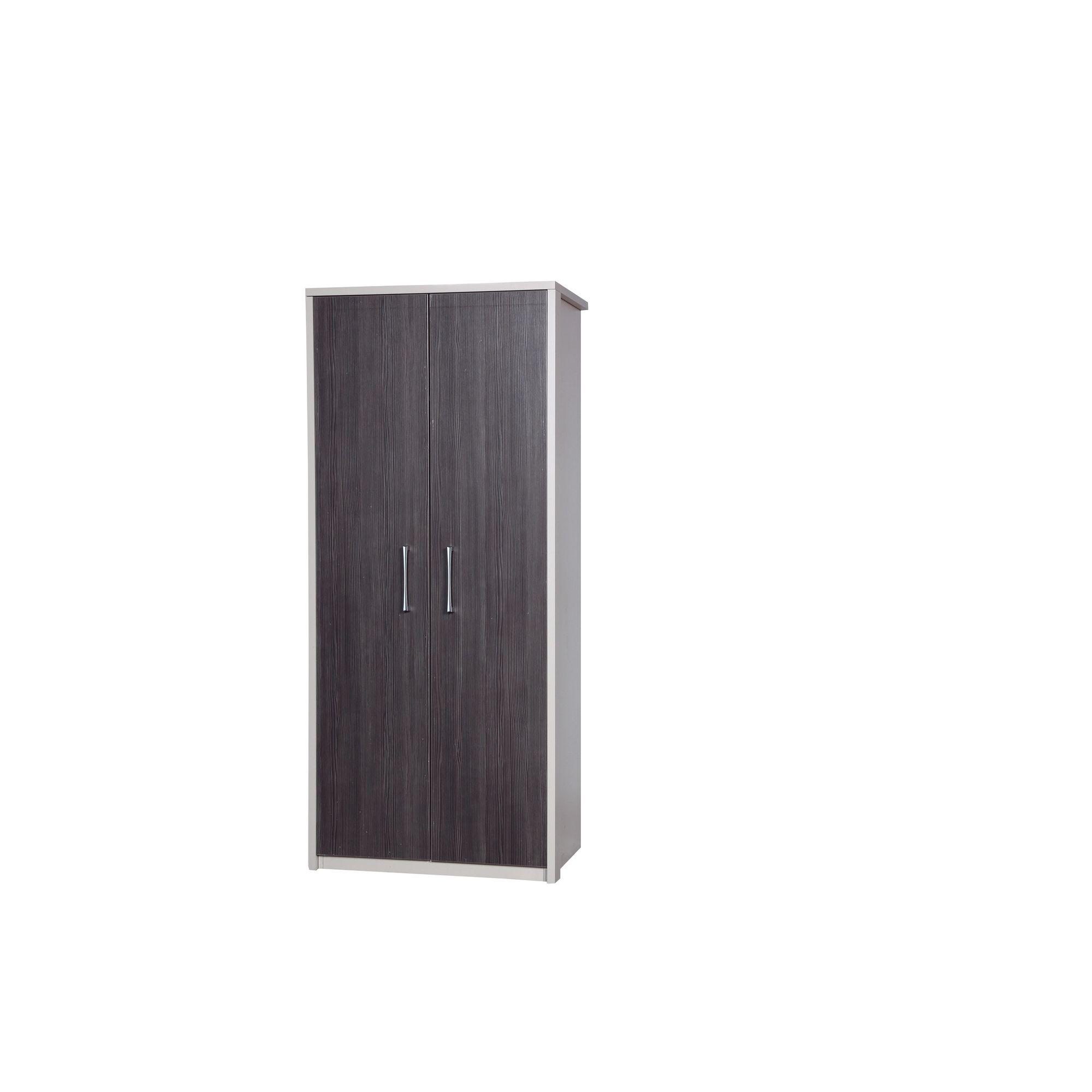 Alto Furniture Avola Double Wardrobe - Cream Carcass With Grey Avola at Tesco Direct