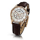 Kennett Savro Ladies Leather 24 hour Chronograph Watch LWSAVWHGOLBR