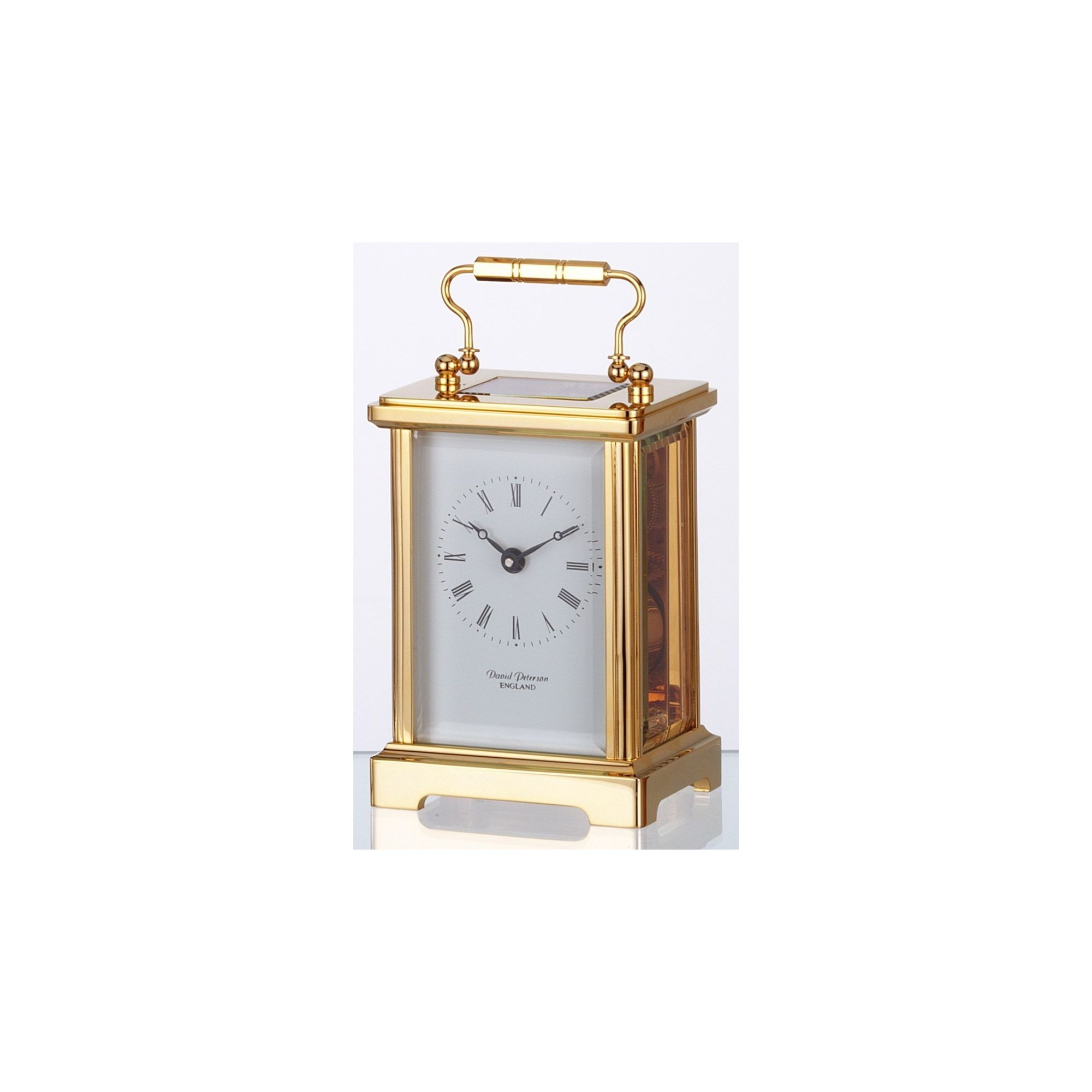 David Peterson Ltd 8 Day Obis Carriage Clock in Gold at Tesco Direct