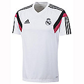 2014-15 Real Madrid Adidas Training Shirt (White) - White
