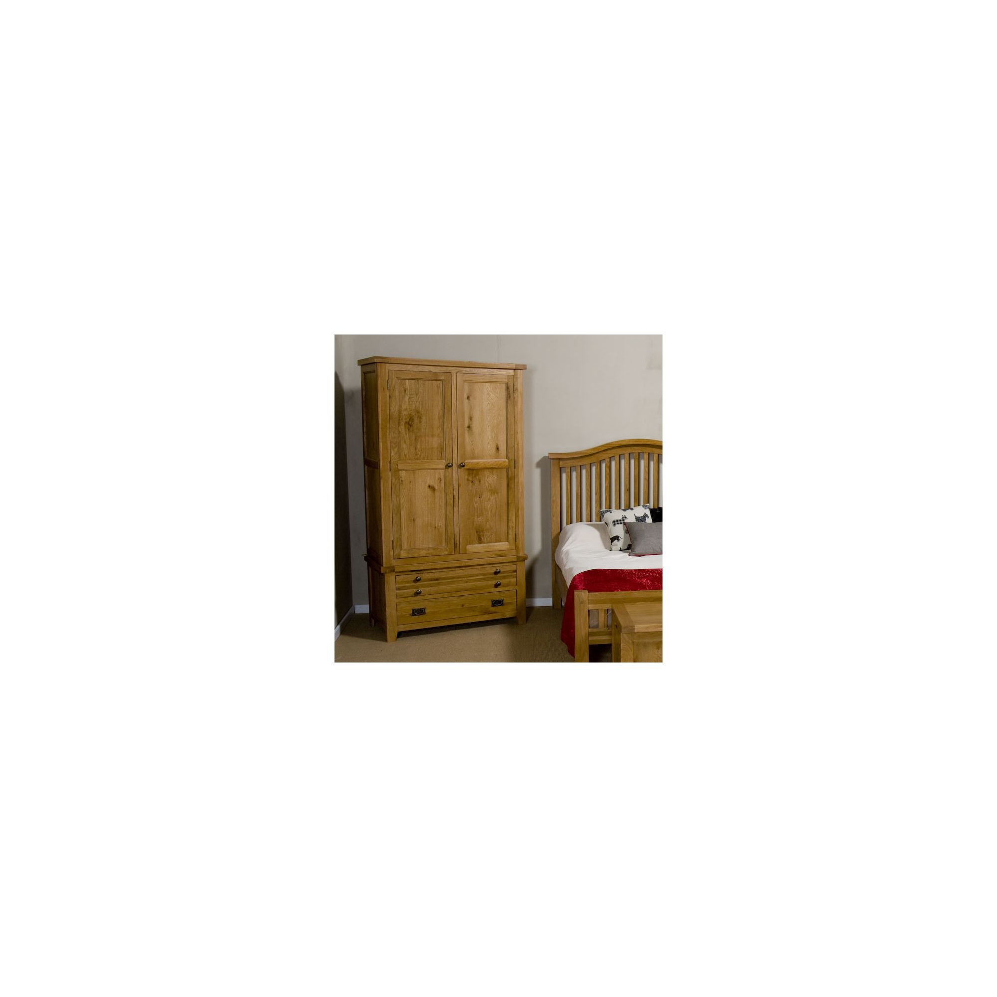 Elements Ludmilla Gents Two Door and Two Drawer Wardrobe in Warm Lacquer at Tesco Direct
