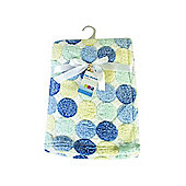 First Steps Supersoft Fleece Baby Blanket Blue Circles 75x100cm