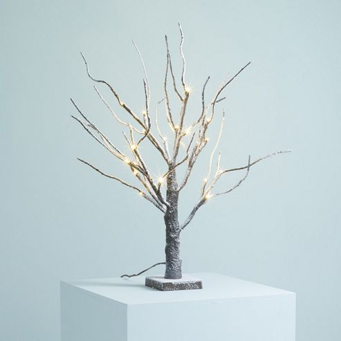 john lewis prelit led snowy paper tree 4ft gift shop. Black Bedroom Furniture Sets. Home Design Ideas