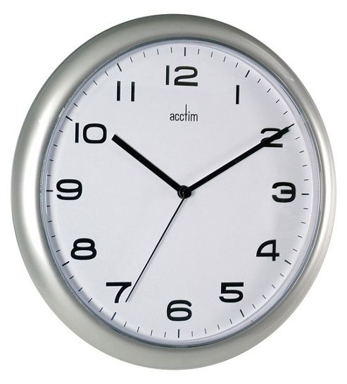 buy aylesbury wall clock silver from our clocks range. Black Bedroom Furniture Sets. Home Design Ideas