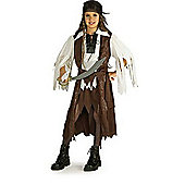 Rubies Fancy Dress - Caribbean Pirate Queen Costume - Girls Medium- UK Size 5-7 Years