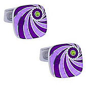 Flush - Purple Cufflinks by Duncan Walton