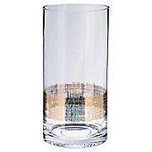 Tesco Gold Cylinder Band Vase