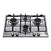 Hotpoint GC640IX  Gas 4 Burner Stainless Steel
