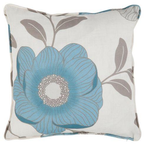 Tesco Sophia Print Cushion  Teal