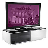 Vienna High Gloss Black and White TV Stand - Assembled