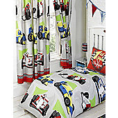Motor Racing, Colourful Race Car Themed Curtains - 54s