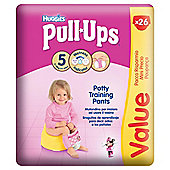 Huggies Pull-Ups Potty Training Pants - Size 5 - Medium - Girl - Economy - 26 Pack