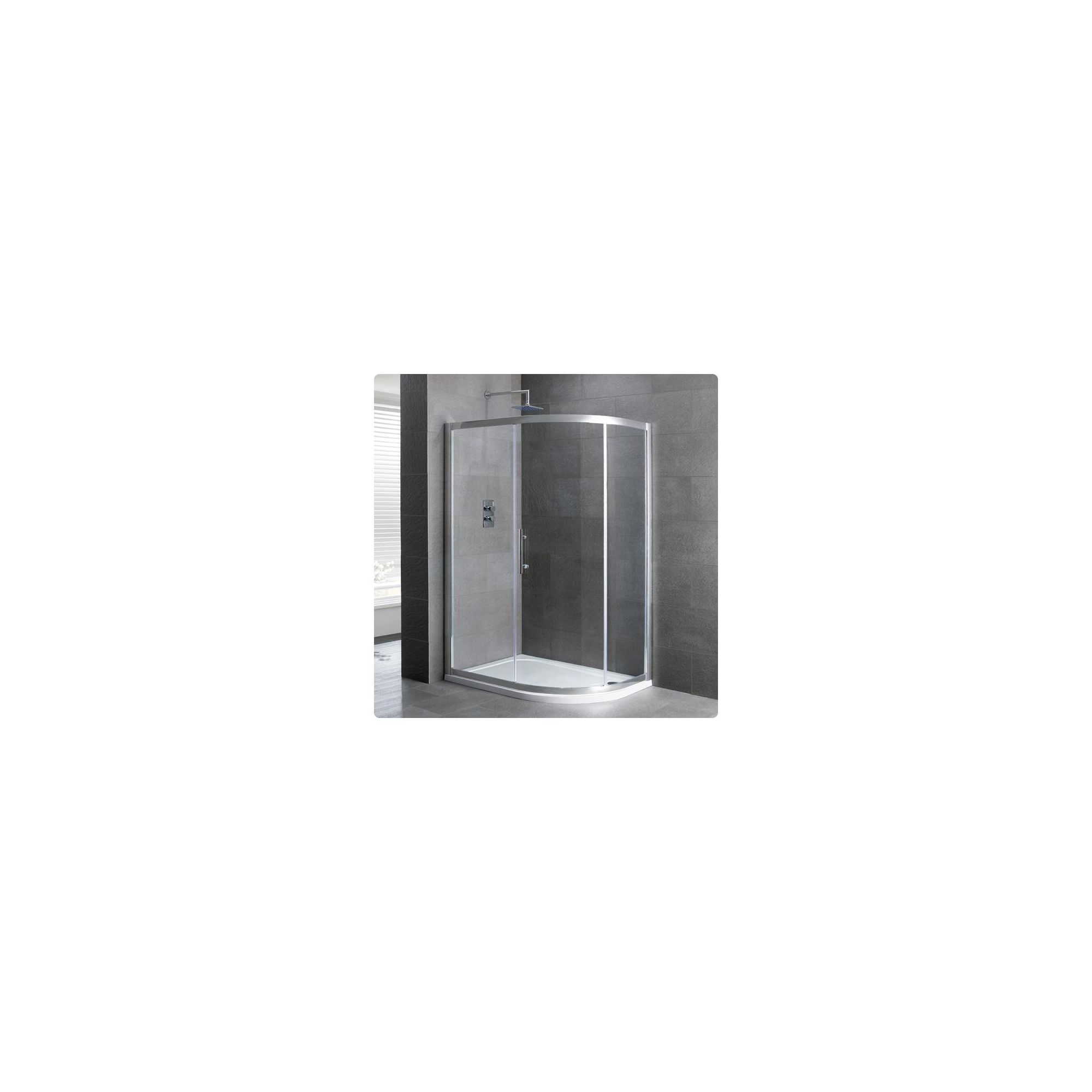Duchy Select Silver 1 Door Offset Quadrant Shower Enclosure 1200mm x 760mm, Standard Tray, 6mm Glass at Tesco Direct