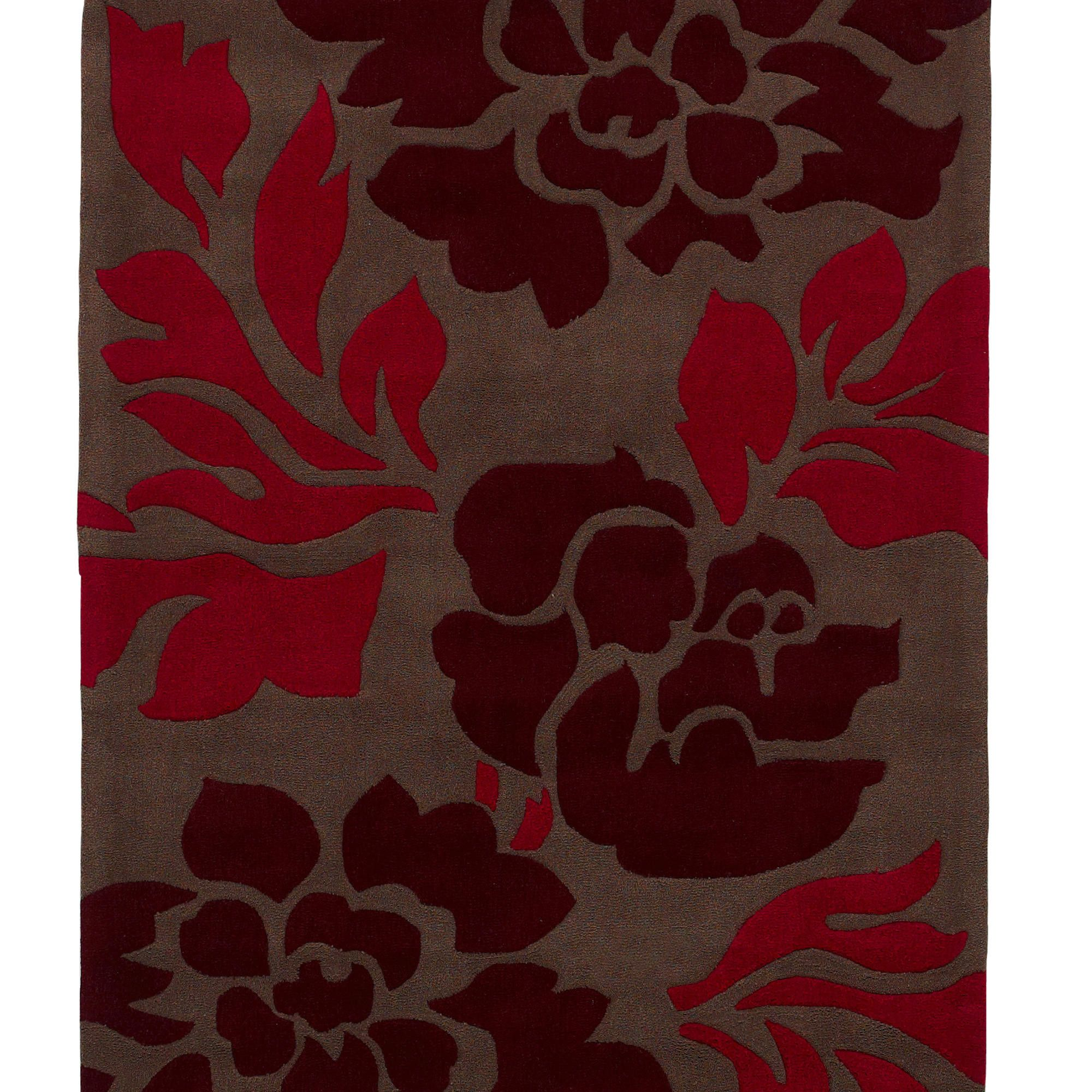 Oriental Carpets & Rugs Hong Kong 33L Brown/Red Rug - 90cm x 150cm