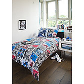 Emma Wright Super Heroes Cotton Double Quilt Set Multi