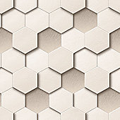 Muriva Honeycomb Wallpaper - Cream