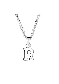 Jo For Girls Silver Initial Pendant - R